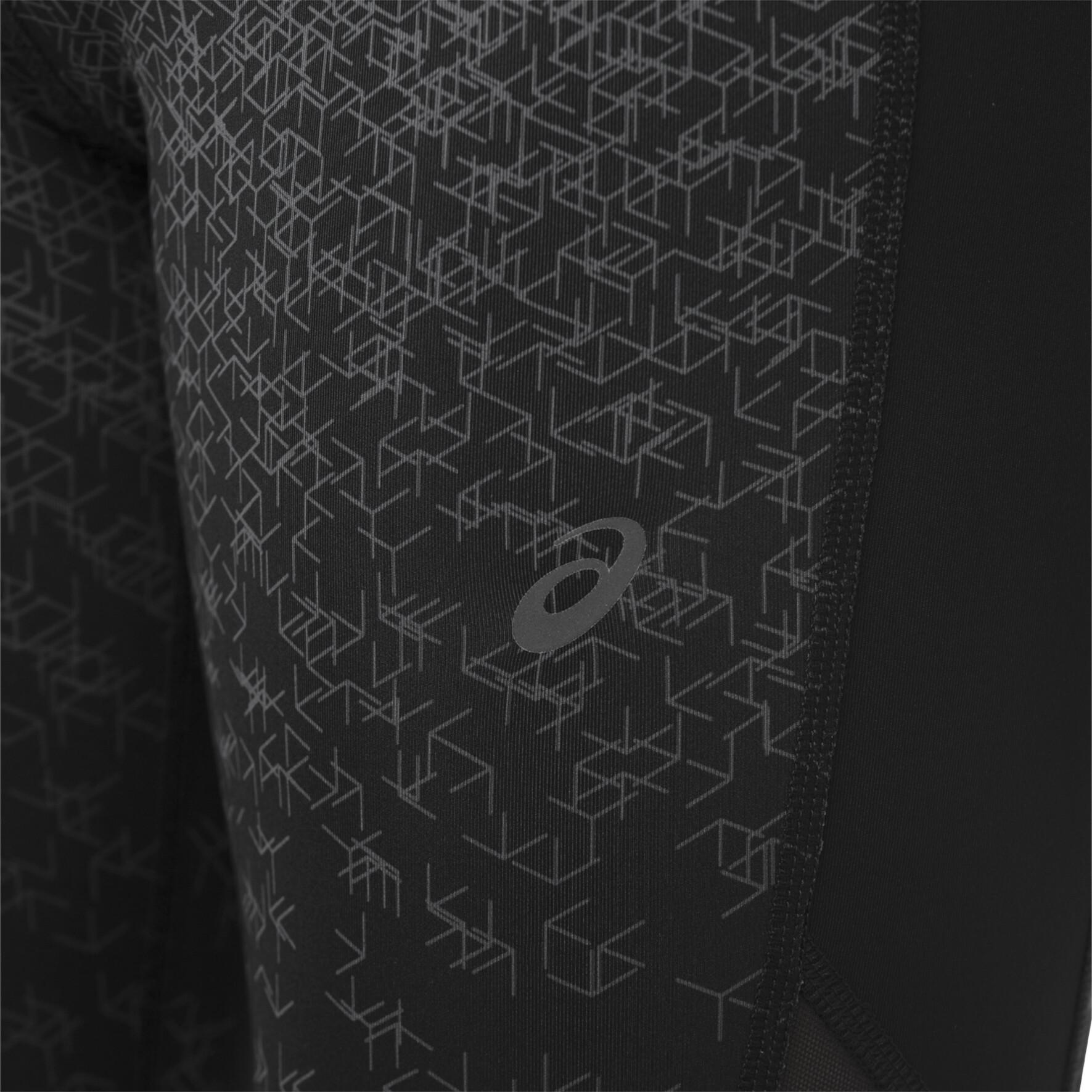 ead31db68 asics Crop Tights Print Women hexagon print fade performance black